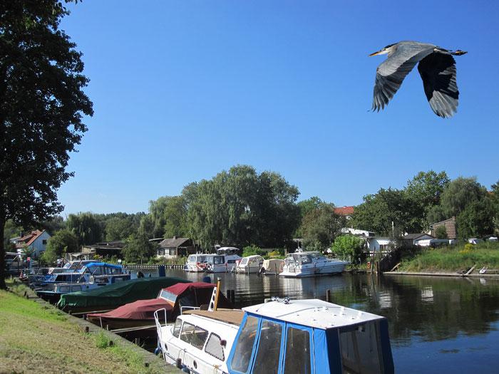 Blick vom Grundstück über die Havel